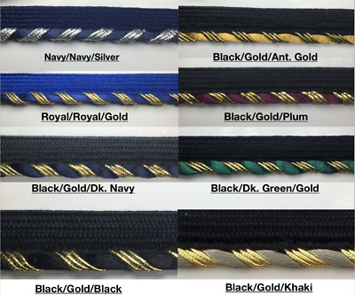 18 Continuous Yards Red 7//16 Rosebud Braid w//Sequin Trim Many Colors Available