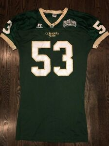 Game-Worn-Used-Colorado-State-Rams-Football-Jersey-53-Russell-XL