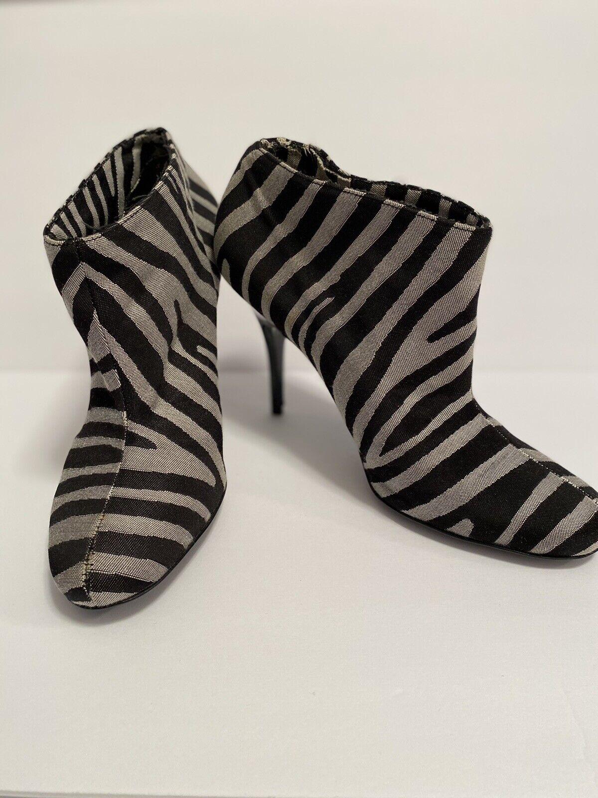 Stella McCartney Zebra Striped Boots Size 36 - image 4