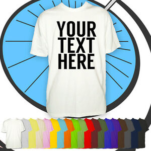 Mens-Personalised-Text-Tshirt-Your-Custom-Text-Printed-Shirt-Customised-Gift