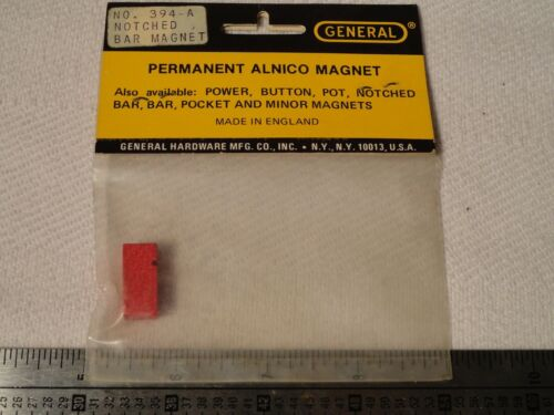 GENERAL 394A POWER NOTCHED BAR MAGNET Permanent Alnico RETRO VINTAGE new