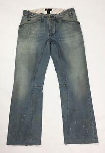 Diesel-pyotr-jeans-uomo-usato-denim-W31-tg-45-gamba-dritta-boyfriend-blu-T3863