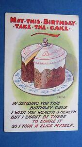 Awesome Vintage Donald Mcgill Comic Postcard 1910S Happy Birthday Birthday Cards Printable Trancafe Filternl