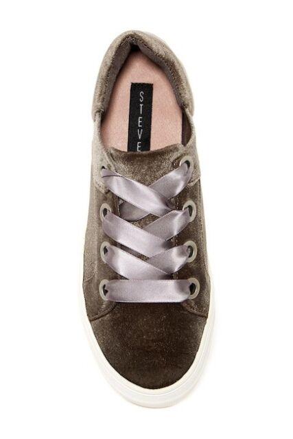 564f38cffca NEW NIB STEVE MADDEN Women s Gator Velvet Lace Up Platform Sneaker Shoe 7.  5 M