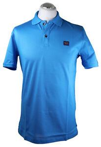 Paul-amp-Shark-polo-camisa-polo-camisa-e18p1252-azul-algodon