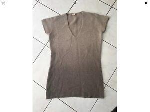revendeur 136db fb63c Détails sur Pull robe SANDRO taille 2 soit 38/40 laine,alpaga camaïeu de  marron