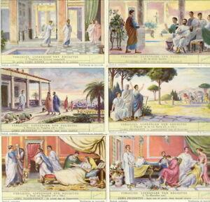 6  CHROMOS   LIEBIG S-1581    LIEBIG VERGILIUS , LOFZANGER VAN AUGUSTUS 1953   /