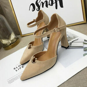 decolte scarpe 8 cm eleganti  beige  tacco quadrato sandali simil pelle 9968