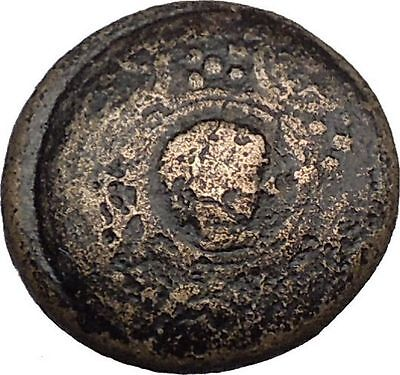 ALEXANDER III the GREAT 336BC Super Rare Shield Helmet Ancient Greek Coin i38104