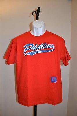Mlb Philadelphia Phillies Jugendliche Xl Xl Rotes T-shirt 38si Die Nieren NäHren Und Rheuma Lindern Fehler Neu