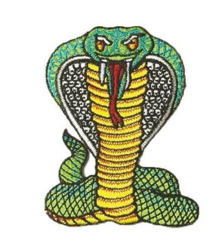 NEU Badge zum Aufnähen Snake Patch Ju-Sports Schlangen-Aufnäher