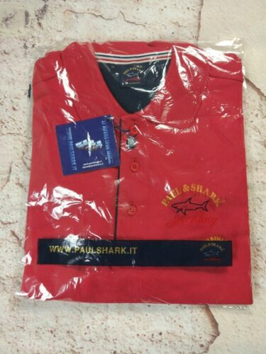 NEUF PAUL /& SHARK YACHTING Polo Chemises Grande Taille 4XL-6XL Rouge