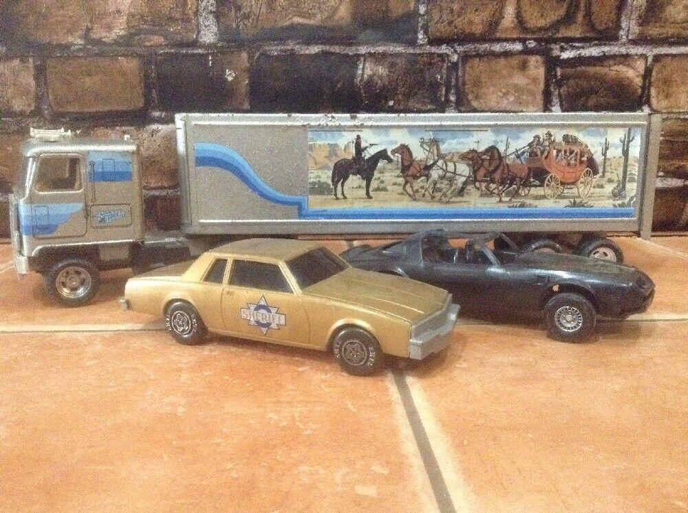 Vintage 1981 Ertl Smokey and the Bandit Chase Set   RARE ERTL LOT