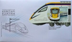 Malaysia FDC with Miniature Sheet (20.03.2018) - Electric Train Service