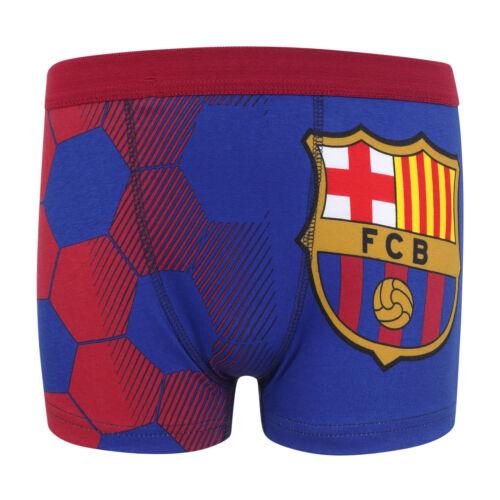 3 boxers thème football garçon FC Barcelona officiel avec blason