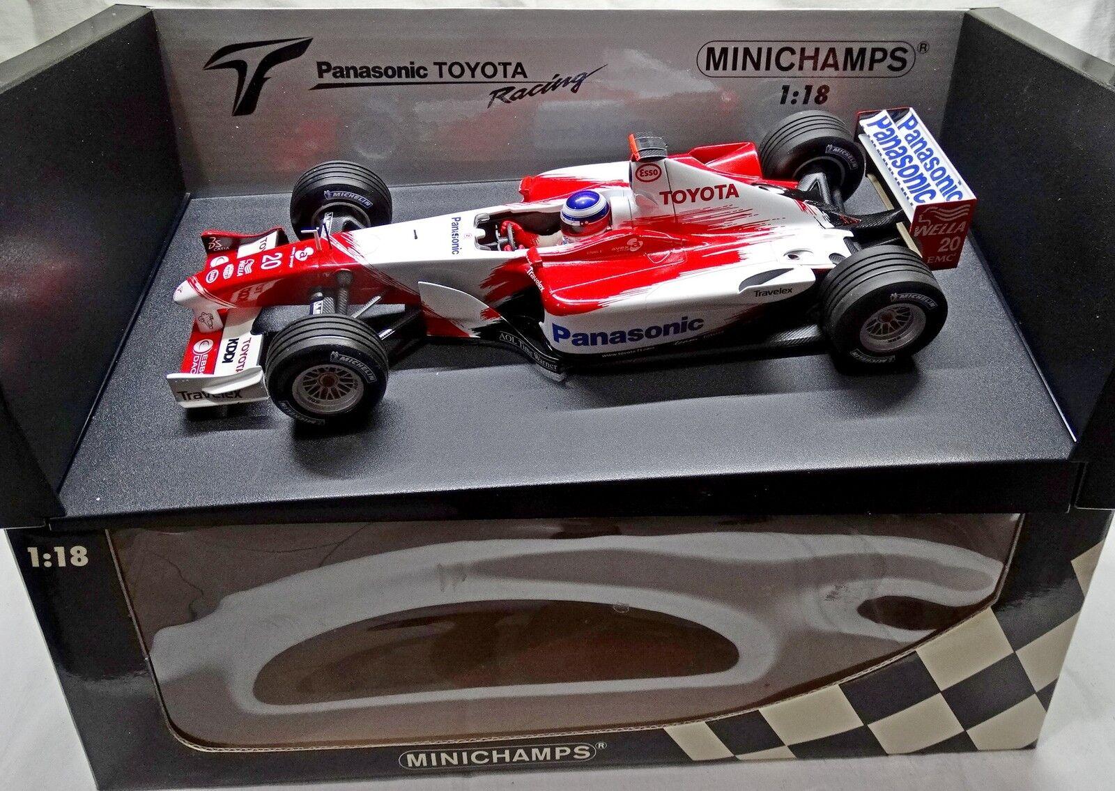 PANASONIC TOYOTA Formula 1 2003 Olivier PANIS BUILT 1 18  MINICHAMPS no SPARK