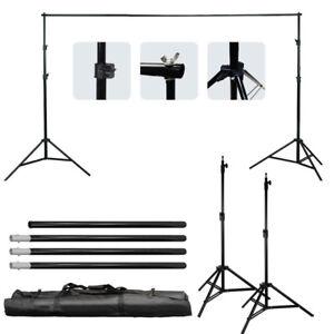 10 Ft Adjustable Background 4 Crossbar Kit Photo Studio Backdrop Support Stand 720217881727