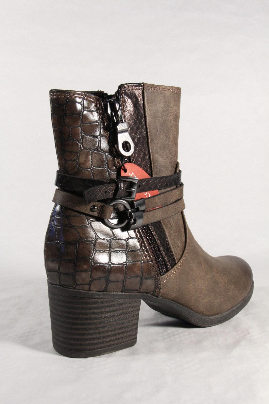 Marco Tozzi Damen Stiefel Stiefelette Stiefel  braun 25304 NEU