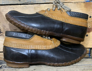 LL-Bean-Maine-Hunting-Shoe-Men-039-s-Gumshoe-Duck-Low-Boots-Size-10-M-Made-USA