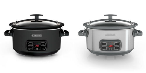 BLACK+DECKER 7 Quart Programmable Slow Cooker with Digital Timer 2 Colors