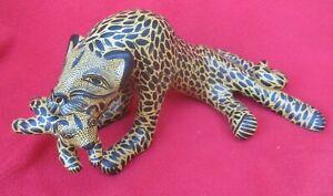 Mexican-Folk-Art-Ceramic-Chiapas-Mother-Jaguar-With-Cub