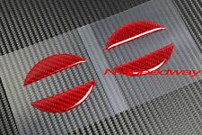 Red Carbon Fiber Hood Trunk Emblem Filler Insert FOR Nissan 350Z Z33 370Z Z34
