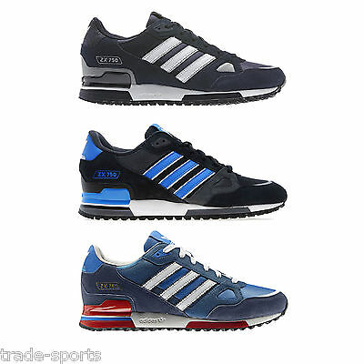 ADIDAS ORIGINALS ZX 750 MULTI SIZE BLACK BLUE MENS TRAINERS SHOES RUNNING SPORT