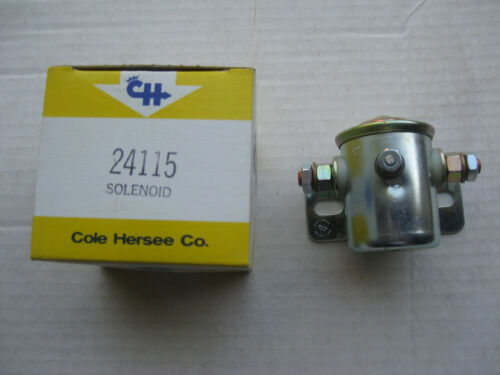 NOS! Insulated Continuous Duty Cole Hersee 24115 12V Steel Solenoid SPST