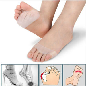 Silicone-Forefoot-Metatarsal-Ball-Foot-Pads-Half-Toe-Cushion-Support-Relief-Jian