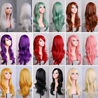 Fashion Women's 70cm Long Wavy Curly Hair Synthetic Cosplay Full Wig Wigs Party