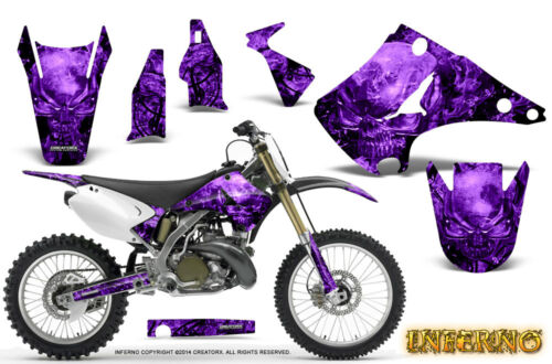 KAWASAKI KX125 KX250 0316 GRAPHICS KIT DECALS CREATORX INFERNO PR