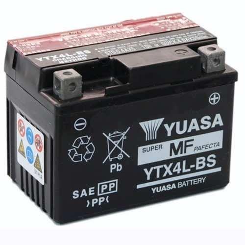 Bateria Yuasa YTX4L-BS sin mantenimiento