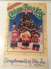 Cabbage Patch Kids Magazine & poster-1985