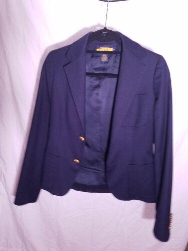 dorati Taglia Lauren scuro Polo lana con Ralph Donna in 0 Rugby blu Blazer bottoni pnAq4Pa