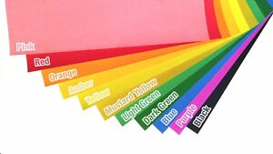 10 Sheets A4 Printable Matt Neon Color Adhesive Sticky Sticker Craft Label Paper