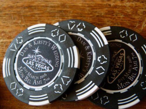 Aimant De Réfrigérateur Personnalisé Poker Chip-Save the dates-Comprend Custom Design