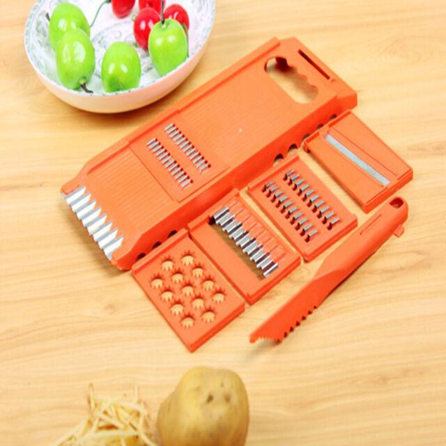 Vegetable Fruit Slicer Cutter Stainless Steel Blade 6 in 1 Multi-function Grater