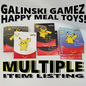 Pokemon Cards Pack McDonalds Happy Meal Toys NEW 1 2 3 4 February March 2021