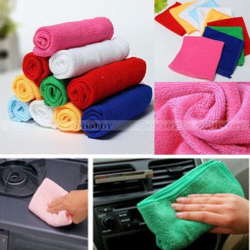 Mixed Color Microfiber Car Cleaning Towel Kitchen Washing Polish Set 2//5//10Pcs