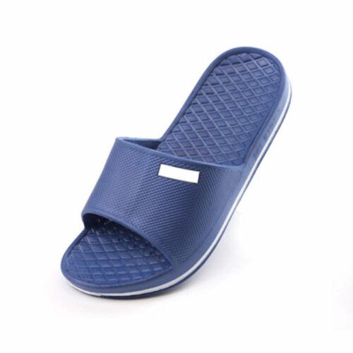 Mens Slip On Sport Slide Sandals Flip Flop Shower Shoes Dshq Slippers Pool W3F5