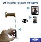 90° Angle Wireless WiFi Door EYE Peephole Video Camera for iPhone Smartphone