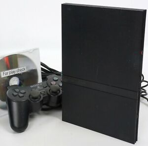 PS2 Slim Console SCPH-70000 Charcoal Black Playstation2 Tested System NTSC-J 948