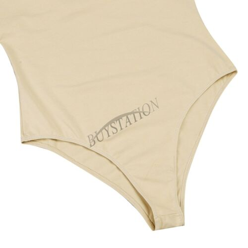 UK/_Womens Ladies Stretchy Bodysuit Gymnastics Short Sleeve Leotard Top Dancewear