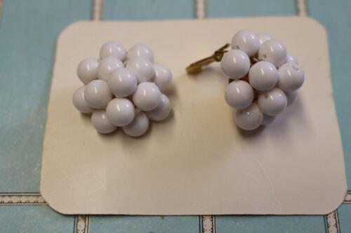 boucles d/'oreille clip anciennes 1950 vintage clip earrings 50s