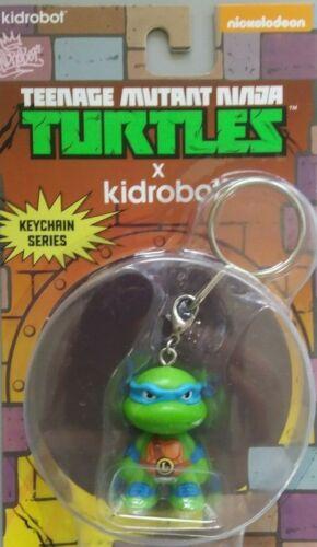 Kidrobot Teenage Mutant Ninja Turtles Leonardo Portachiavi Portachiavi TMNT Nuovo di Zecca