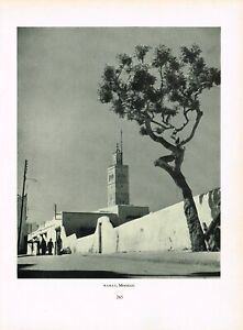 8e309bc1c99a Details about Rabat Morocco Old Print Picture Vintage 1954 PPP#265