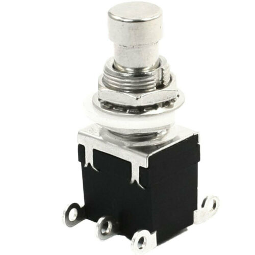 Off Momentary Push Button Foot Switch DPDT Pedal Guitar Effect cv 1//3//5 PCS ON-