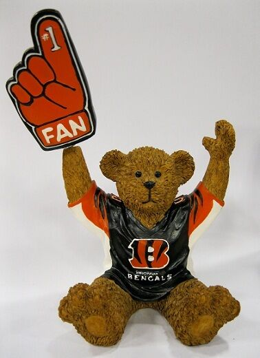 Cincinnati Bengals NFL Football Mini Teddy Bear with Bobbin Hand by Elby Gifts