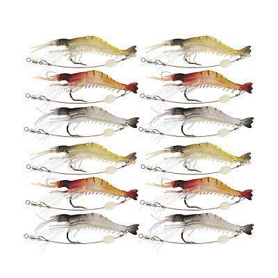 Goture Soft Lures Shrimp Bait Set Kit Lots For Freshwater Trout Bass Salmon