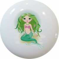 MERMAID Ceramic CABINET DRAWER Pull KNOB New